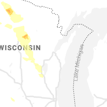 Regional Hail Map for Green Bay, WI - Wednesday, July 28, 2021