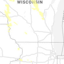Regional Hail Map for Madison, WI - Wednesday, July 28, 2021