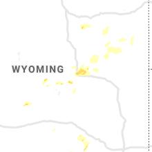 Regional Hail Map for Casper, WY - Thursday, July 29, 2021