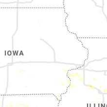 Regional Hail Map for Cedar Rapids, IA - Thursday, July 29, 2021