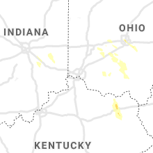 Regional Hail Map for Cincinnati, OH - Thursday, July 29, 2021