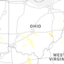 Regional Hail Map for Columbus, OH - Thursday, July 29, 2021