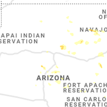 Regional Hail Map for Flagstaff, AZ - Thursday, July 29, 2021