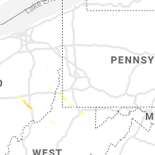 Regional Hail Map for Pittsburgh, PA - Thursday, July 29, 2021