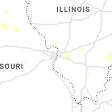 Regional Hail Map for Saint Louis, MO - Thursday, July 29, 2021
