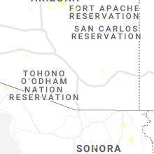 Regional Hail Map for Tucson, AZ - Thursday, July 29, 2021
