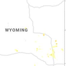 Regional Hail Map for Casper, WY - Friday, July 30, 2021