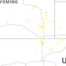 Regional Hail Map for Laramie, WY - Friday, July 30, 2021