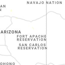 Regional Hail Map for Show Low, AZ - Friday, July 30, 2021