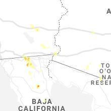 Regional Hail Map for Yuma, AZ - Friday, July 30, 2021