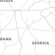 Regional Hail Map for Atlanta, GA - Saturday, July 31, 2021