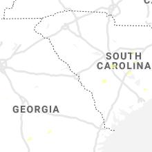 Regional Hail Map for Augusta, GA - Saturday, July 31, 2021