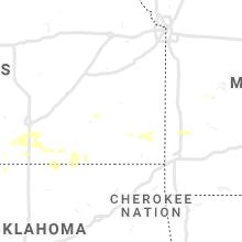 Regional Hail Map for Chanute, KS - Saturday, July 31, 2021