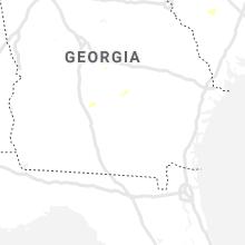 Regional Hail Map for Douglas, GA - Saturday, July 31, 2021