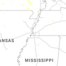 Regional Hail Map for Memphis, TN - Saturday, July 31, 2021