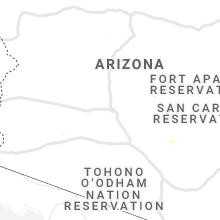 Regional Hail Map for Phoenix, AZ - Saturday, July 31, 2021