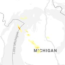 Regional Hail Map for Traverse City, MI - Saturday, July 31, 2021