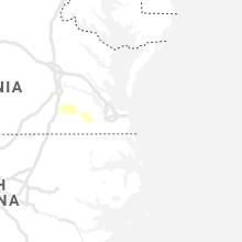 Regional Hail Map for Virginia Beach, VA - Saturday, July 31, 2021