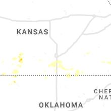 Regional Hail Map for Wichita, KS - Saturday, July 31, 2021