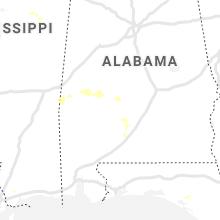Regional Hail Map for Camden, AL - Sunday, August 1, 2021