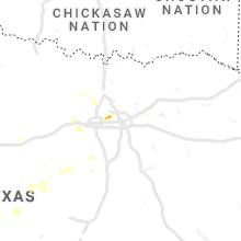 Regional Hail Map for Dallas, TX - Sunday, August 1, 2021