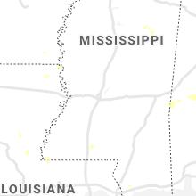 Regional Hail Map for Jackson, MS - Sunday, August 1, 2021