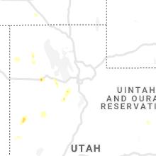 Regional Hail Map for Salt Lake City, UT - Sunday, August 1, 2021