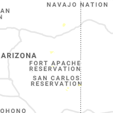 Regional Hail Map for Show Low, AZ - Sunday, August 1, 2021