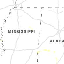 Regional Hail Map for Starkville, MS - Sunday, August 1, 2021