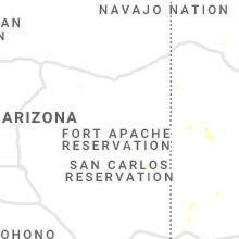 Regional Hail Map for Show Low, AZ - Monday, August 2, 2021