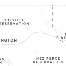 Regional Hail Map for Spokane, WA - Tuesday, August 3, 2021