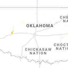 Regional Hail Map for Oklahoma City, OK - Thursday, August 5, 2021