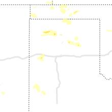 Regional Hail Map for Amarillo, TX - Saturday, August 7, 2021