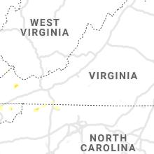 Regional Hail Map for Roanoke, VA - Saturday, August 7, 2021