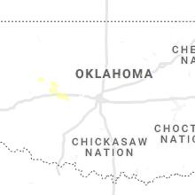 Regional Hail Map for Oklahoma City, OK - Sunday, August 8, 2021
