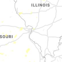 Regional Hail Map for Saint Louis, MO - Sunday, August 8, 2021