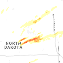 Regional Hail Map for Devils Lake, ND - Monday, August 9, 2021