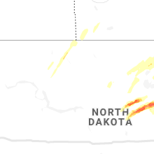 Regional Hail Map for Minot, ND - Monday, August 9, 2021