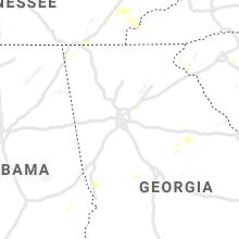 Regional Hail Map for Atlanta, GA - Tuesday, August 10, 2021