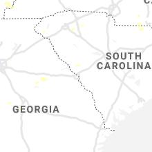 Regional Hail Map for Augusta, GA - Tuesday, August 10, 2021