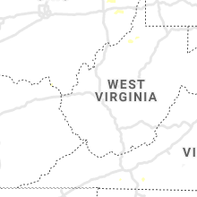 Regional Hail Map for Charleston, WV - Tuesday, August 10, 2021