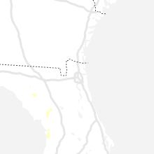 Regional Hail Map for Jacksonville, FL - Tuesday, August 10, 2021