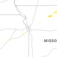 Regional Hail Map for Kansas City, MO - Tuesday, August 10, 2021