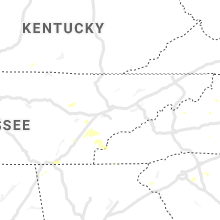 Regional Hail Map for Knoxville, TN - Tuesday, August 10, 2021