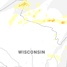 Regional Hail Map for Rhinelander, WI - Tuesday, August 10, 2021
