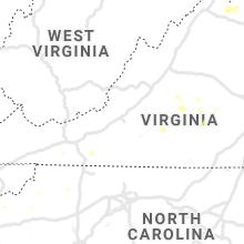 Regional Hail Map for Roanoke, VA - Tuesday, August 10, 2021