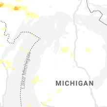 Regional Hail Map for Traverse City, MI - Tuesday, August 10, 2021