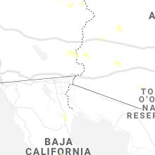 Regional Hail Map for Yuma, AZ - Tuesday, August 10, 2021