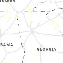 Regional Hail Map for Atlanta, GA - Wednesday, August 11, 2021