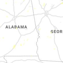 Regional Hail Map for Auburn, AL - Wednesday, August 11, 2021